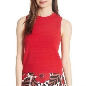 NWT Size L Kate Spade Red Sleeveless Tank Sweater